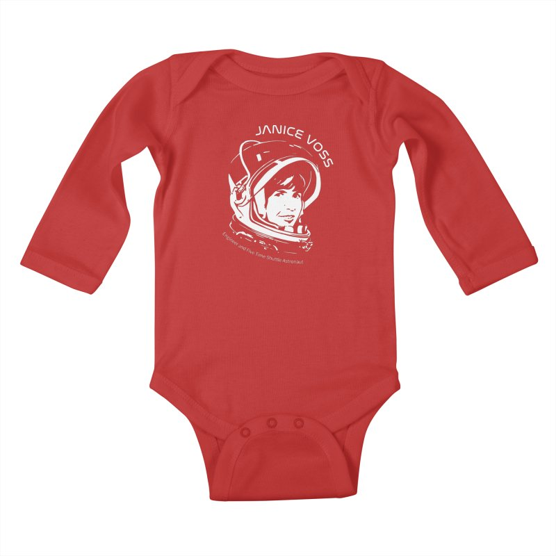 Women in Space: Janice Voss Kids Baby Longsleeve Bodysuit by Photon Illustration's Artist Shop