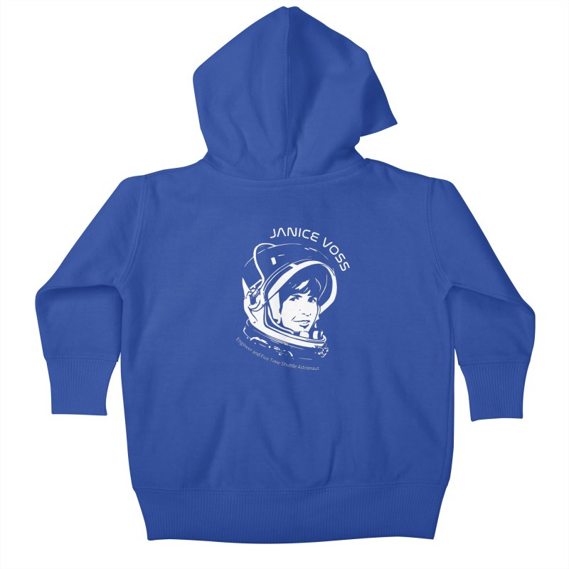 Women in Space: Janice Voss Kids Baby Zip-Up Hoody by Photon Illustration's Artist Shop