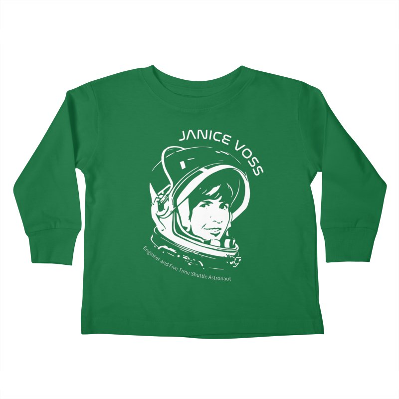 Women in Space: Janice Voss Kids Toddler Longsleeve T-Shirt by Photon Illustration's Artist Shop