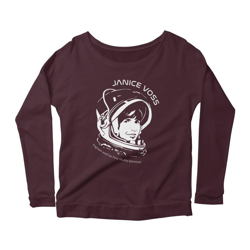 Women in Space: Janice Voss Women's Scoop Neck Longsleeve T-Shirt by Photon Illustration's Artist Shop