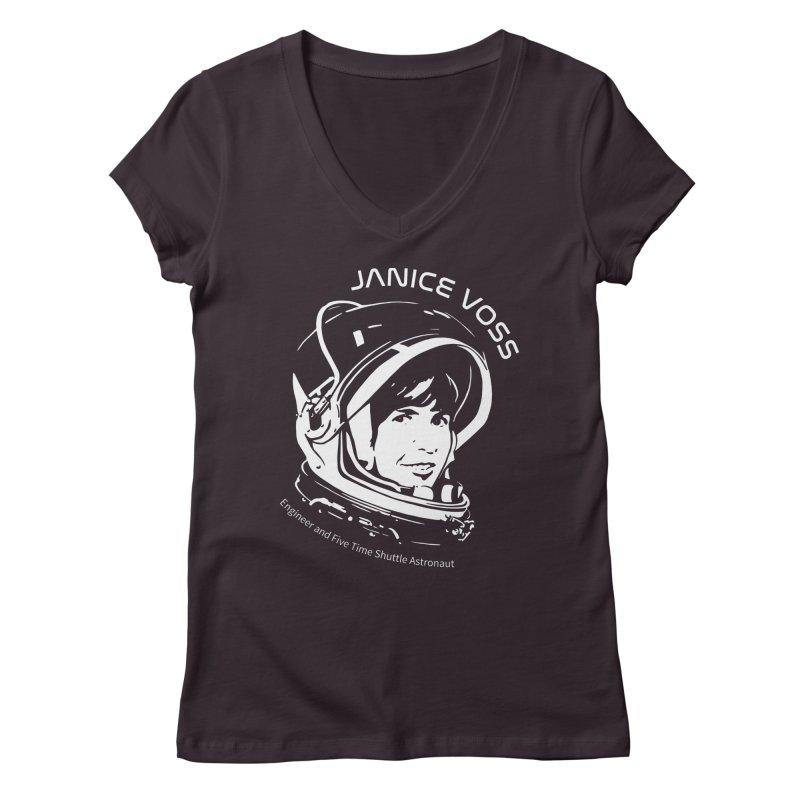 Women in Space: Janice Voss Women's Regular V-Neck by Photon Illustration's Artist Shop