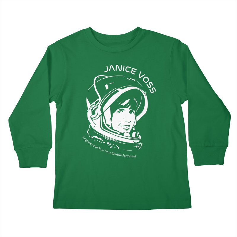 Women in Space: Janice Voss Kids Longsleeve T-Shirt by Photon Illustration's Artist Shop
