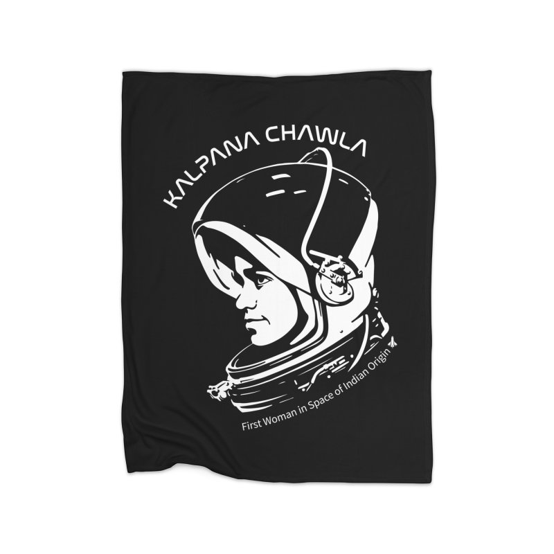 Women in Space: Kalpana Chawla Home Fleece Blanket Blanket by Photon Illustration's Artist Shop
