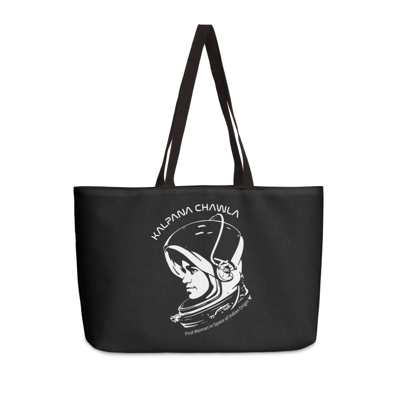 Women in Space: Kalpana Chawla Accessories Weekender Bag Bag by Photon Illustration's Artist Shop