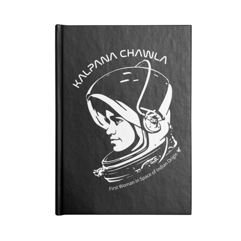 Women in Space: Kalpana Chawla Accessories Blank Journal Notebook by Photon Illustration's Artist Shop