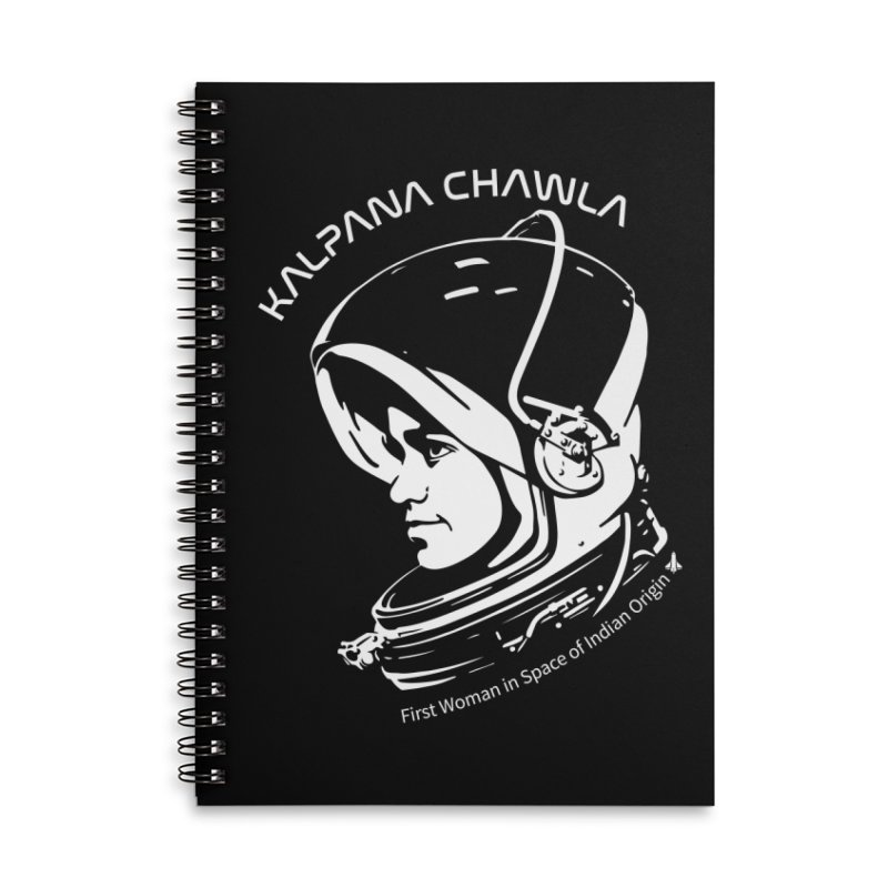 Women in Space: Kalpana Chawla Accessories Lined Spiral Notebook by Photon Illustration's Artist Shop