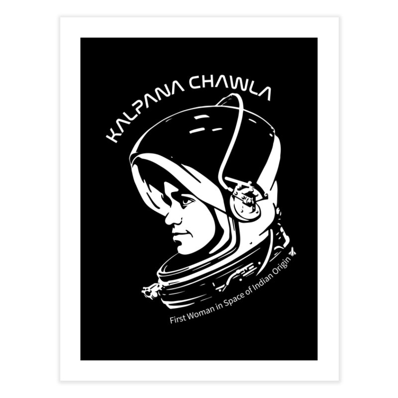 Women in Space: Kalpana Chawla Home Fine Art Print by Photon Illustration's Artist Shop