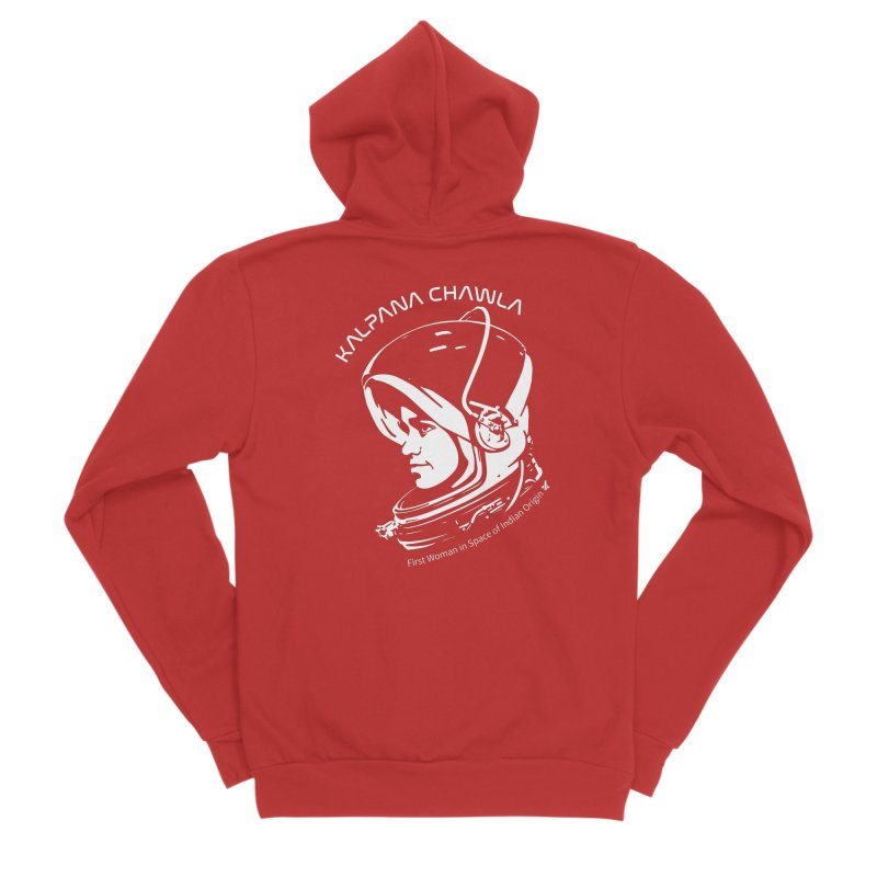 Women in Space: Kalpana Chawla Men's Zip-Up Hoody by Photon Illustration's Artist Shop
