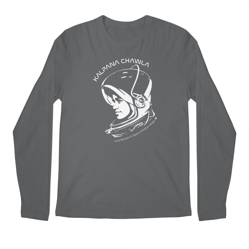 Women in Space: Kalpana Chawla Men's Longsleeve T-Shirt by Photon Illustration's Artist Shop