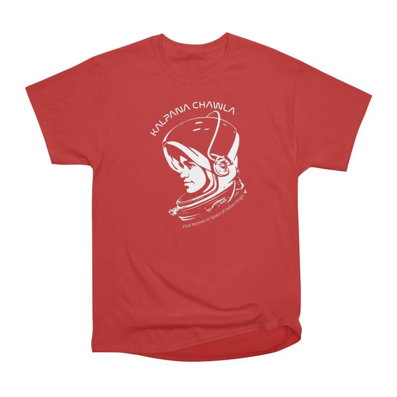 Women in Space: Kalpana Chawla Women's Heavyweight Unisex T-Shirt by Photon Illustration's Artist Shop
