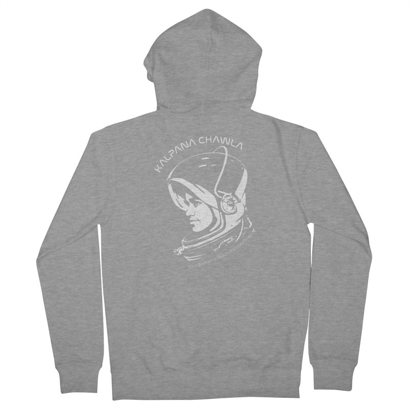 Women in Space: Kalpana Chawla Women's French Terry Zip-Up Hoody by Photon Illustration's Artist Shop