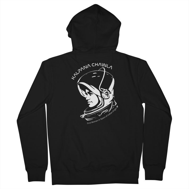 Women in Space: Kalpana Chawla Men's French Terry Zip-Up Hoody by Photon Illustration's Artist Shop