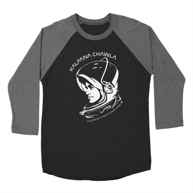 Women in Space: Kalpana Chawla Women's Baseball Triblend Longsleeve T-Shirt by Photon Illustration's Artist Shop