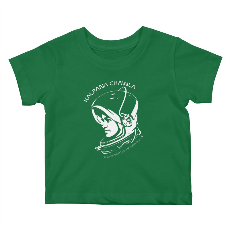 Women in Space: Kalpana Chawla Kids Baby T-Shirt by Photon Illustration's Artist Shop