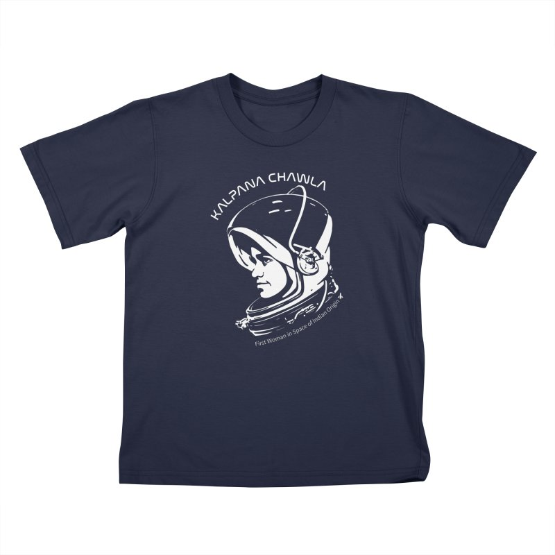 Women in Space: Kalpana Chawla Kids T-Shirt by Photon Illustration's Artist Shop