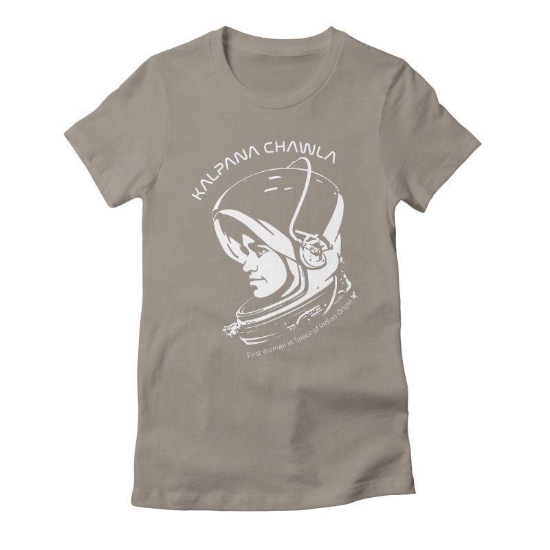 Women in Space: Kalpana Chawla Women's Fitted T-Shirt by Photon Illustration's Artist Shop