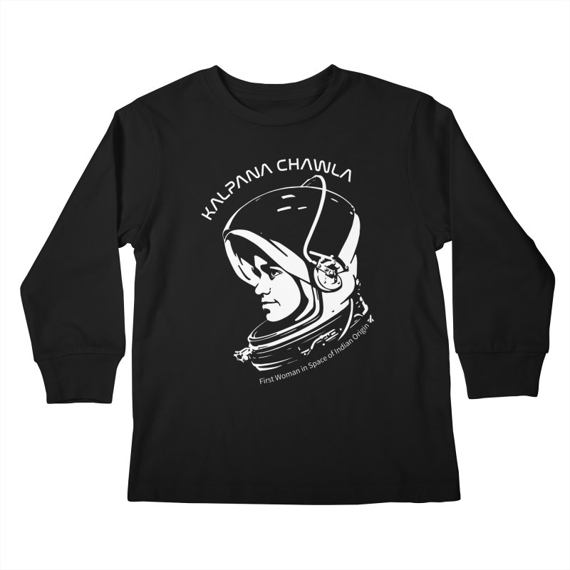 Women in Space: Kalpana Chawla Kids Longsleeve T-Shirt by Photon Illustration's Artist Shop