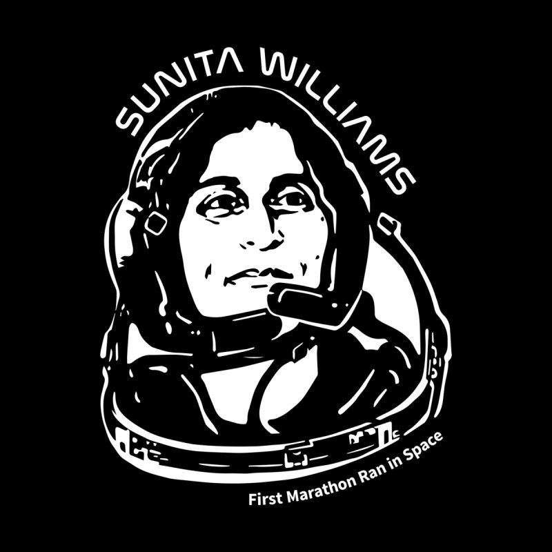 Women in Space: Sunita Williams Men's Zip-Up Hoody by Photon Illustration's Artist Shop