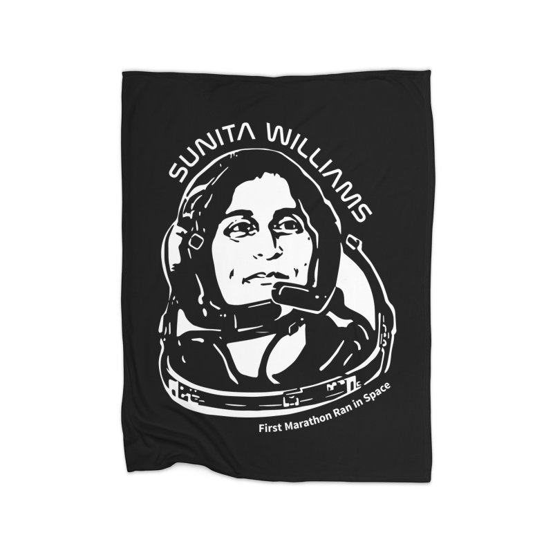 Women in Space: Sunita Williams Home Fleece Blanket Blanket by Photon Illustration's Artist Shop