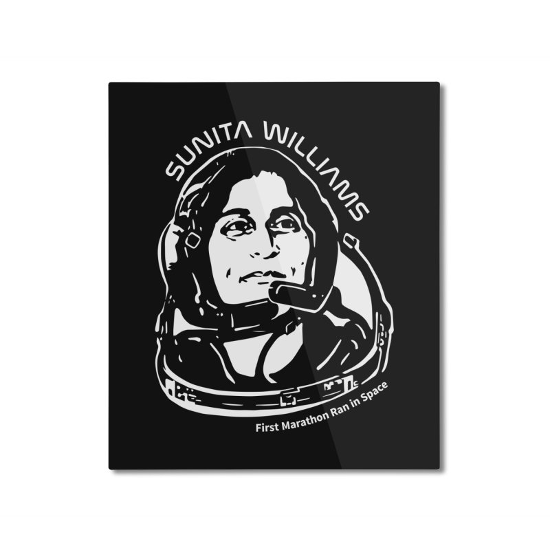 Women in Space: Sunita Williams Home Mounted Aluminum Print by Photon Illustration's Artist Shop