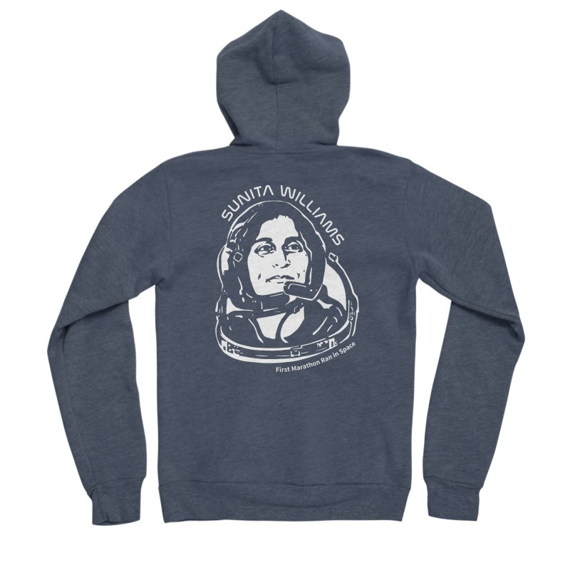 Women in Space: Sunita Williams Women's Sponge Fleece Zip-Up Hoody by Photon Illustration's Artist Shop