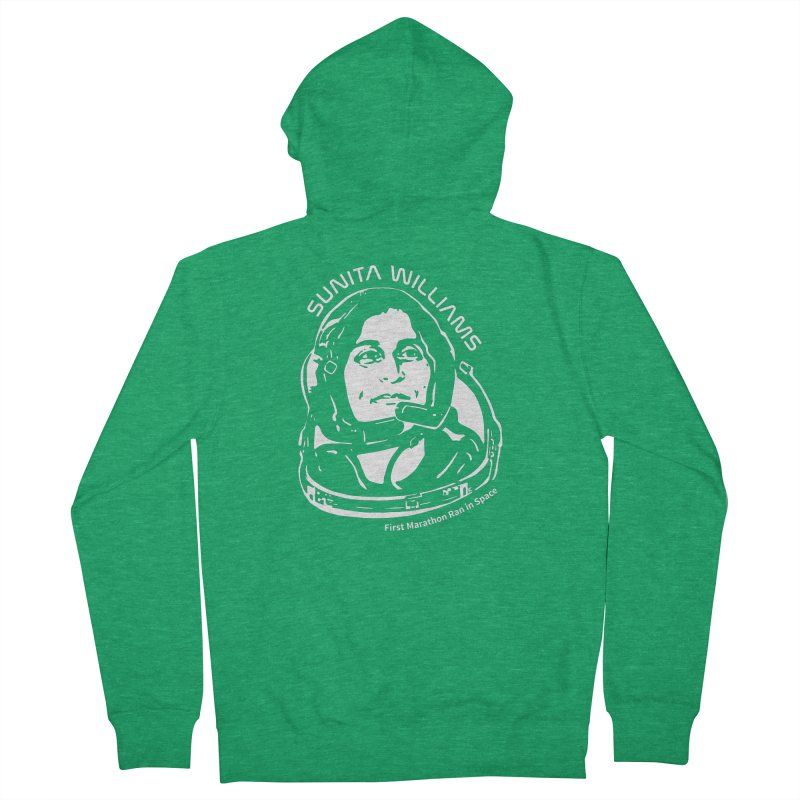 Women in Space: Sunita Williams Women's French Terry Zip-Up Hoody by Photon Illustration's Artist Shop
