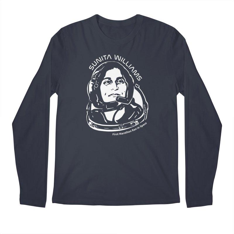 Women in Space: Sunita Williams Men's Regular Longsleeve T-Shirt by Photon Illustration's Artist Shop