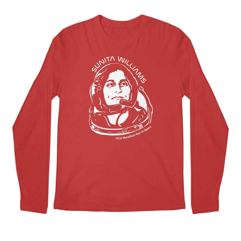 Women in Space: Sunita Williams Men's Regular Longsleeve T-Shirt by Photon Illustration's Artist Shop