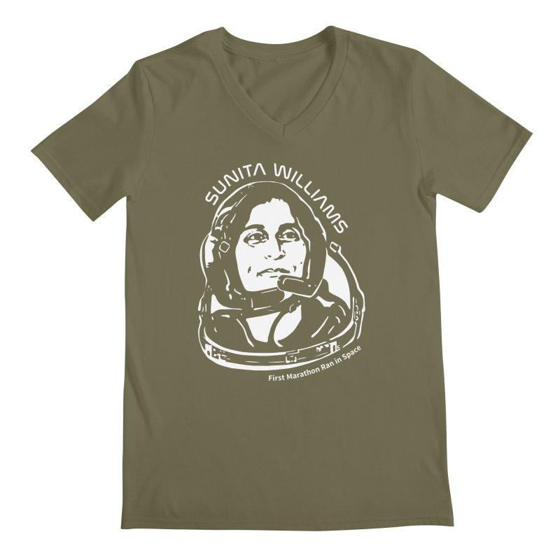 Women in Space: Sunita Williams Men's Regular V-Neck by Photon Illustration's Artist Shop