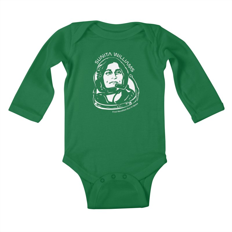 Women in Space: Sunita Williams Kids Baby Longsleeve Bodysuit by Photon Illustration's Artist Shop