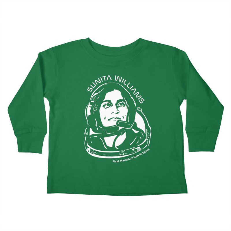 Women in Space: Sunita Williams Kids Toddler Longsleeve T-Shirt by Photon Illustration's Artist Shop