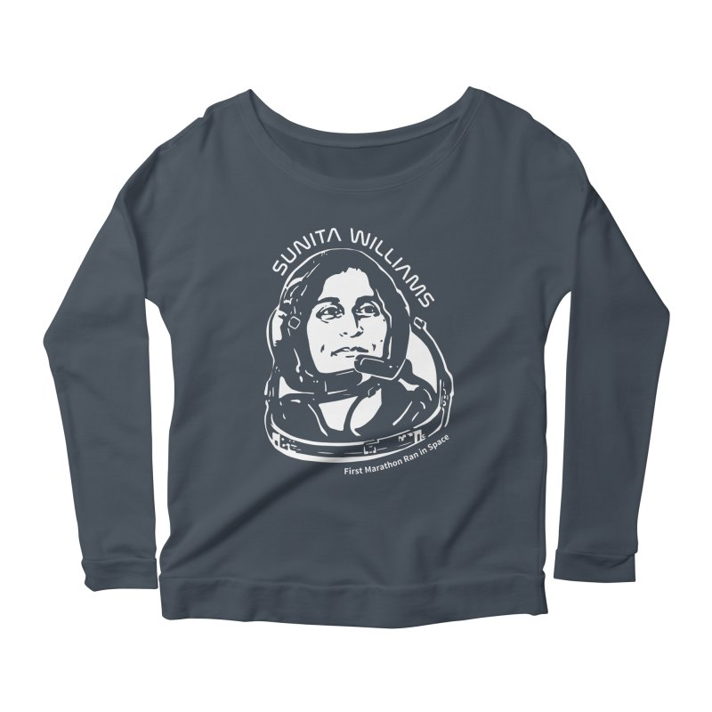 Women in Space: Sunita Williams Women's Scoop Neck Longsleeve T-Shirt by Photon Illustration's Artist Shop