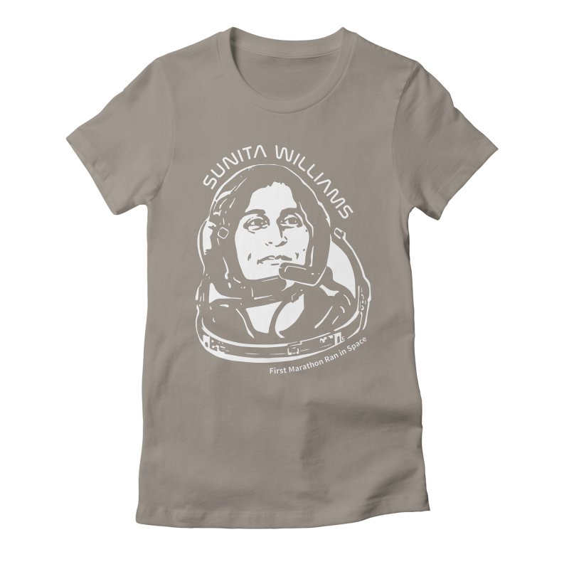 Women in Space: Sunita Williams Women's Fitted T-Shirt by Photon Illustration's Artist Shop