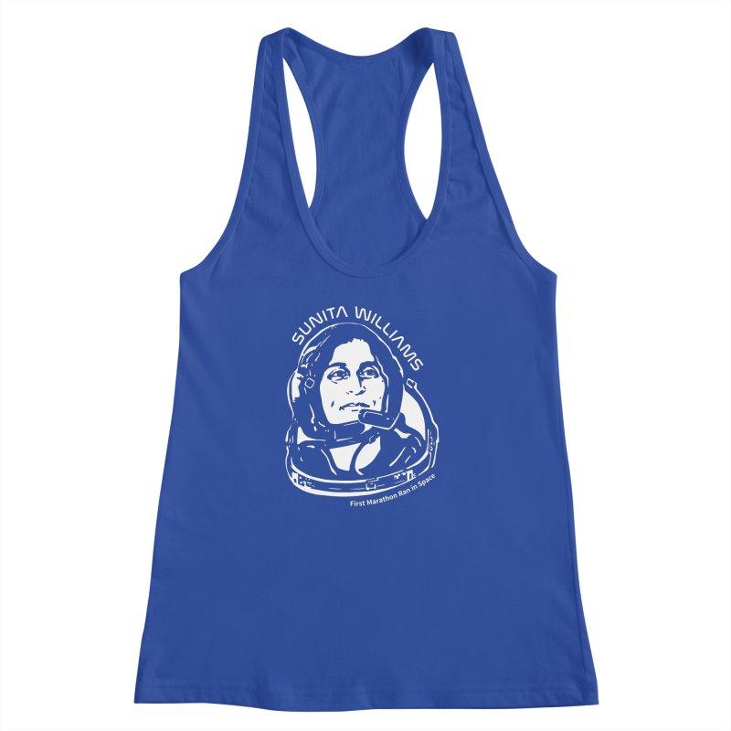Women in Space: Sunita Williams Women's Racerback Tank by Photon Illustration's Artist Shop