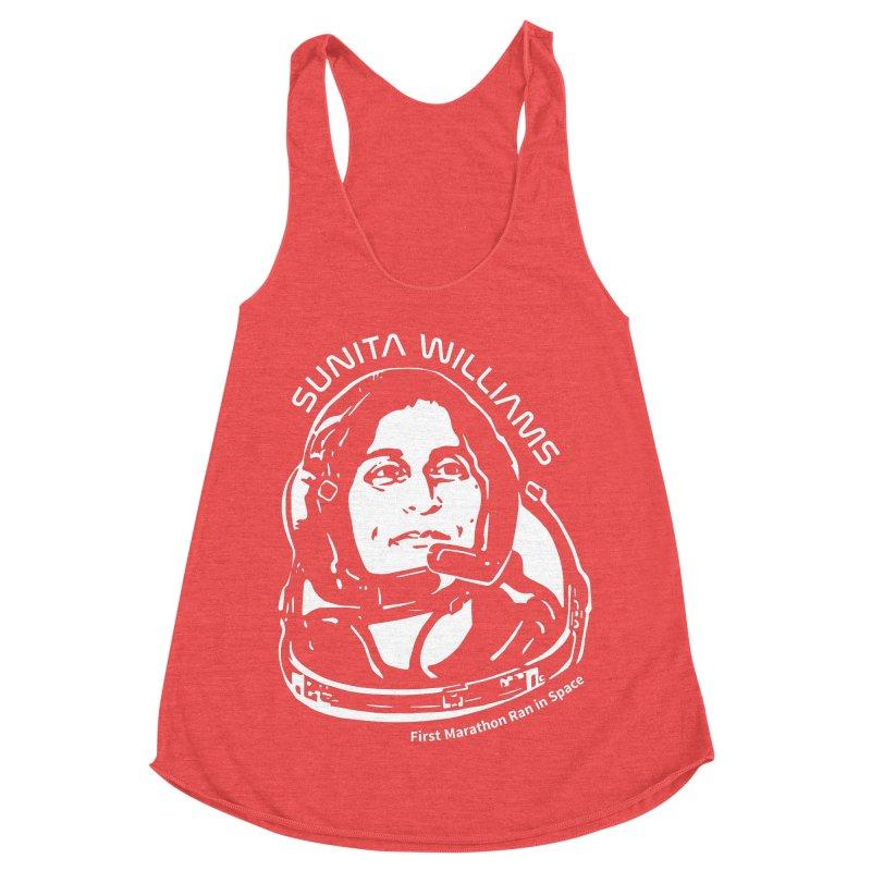 Women in Space: Sunita Williams Women's Racerback Triblend Tank by Photon Illustration's Artist Shop