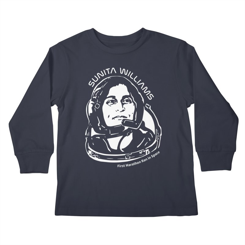 Women in Space: Sunita Williams Kids Longsleeve T-Shirt by Photon Illustration's Artist Shop