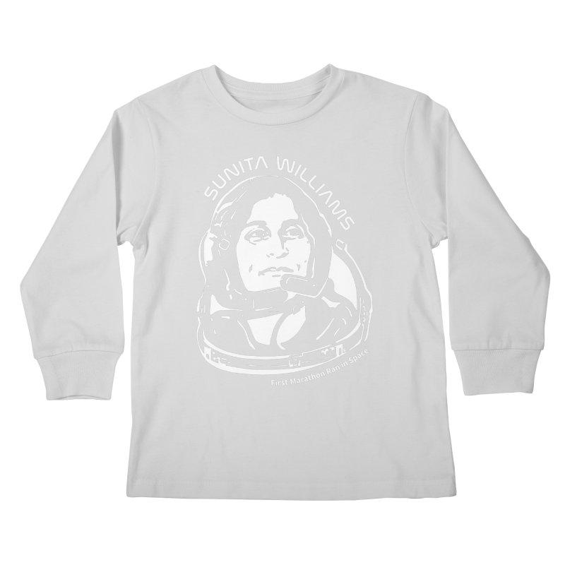 Women in Space: Sunita Williams Kids Longsleeve T-Shirt by Photon Illustration's Artist Shop