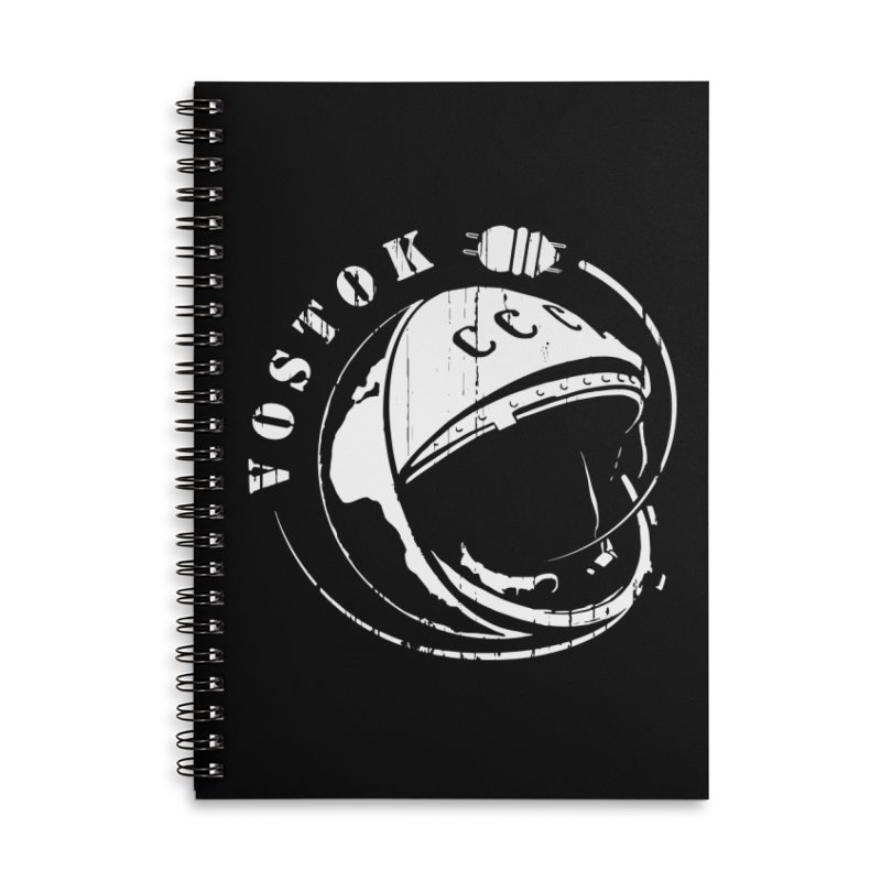 Vostok Accessories Lined Spiral Notebook by Photon Illustration's Artist Shop
