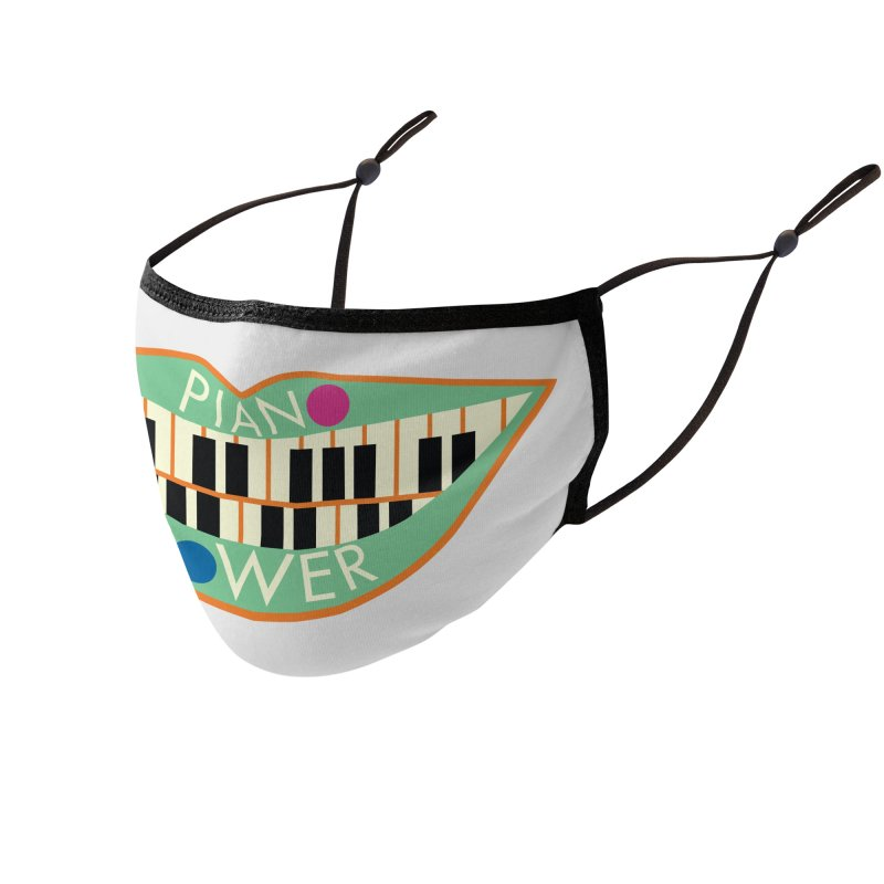 Piano Teeth Accessories Face Mask by Piano Power