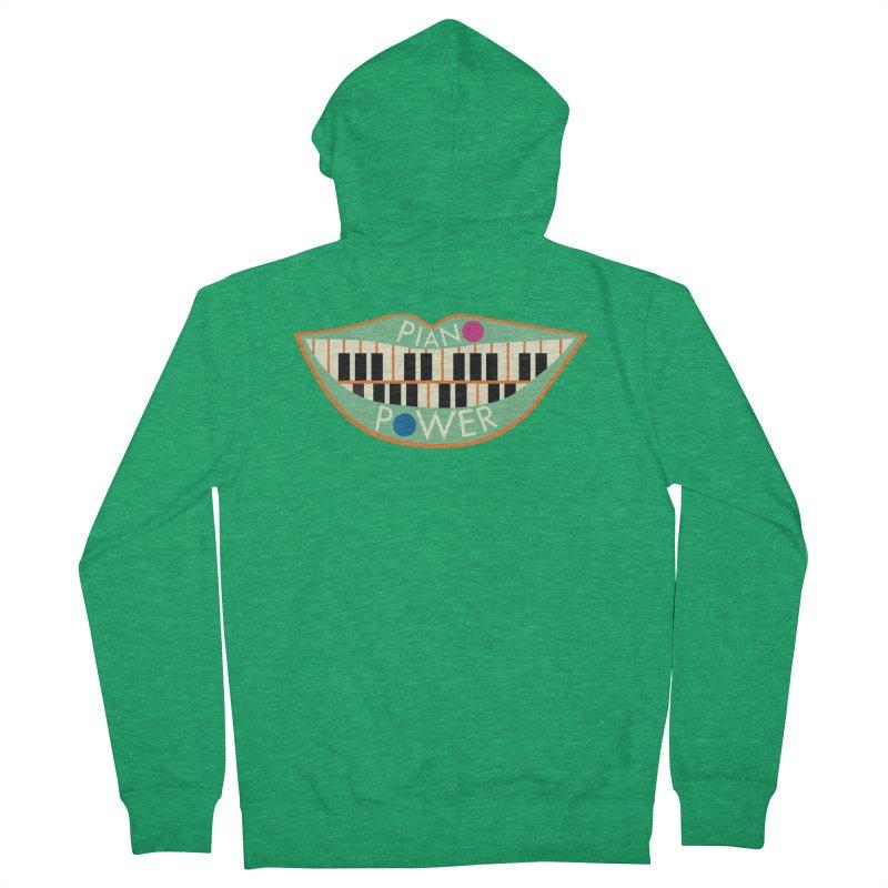 Piano Teeth Men's Zip-Up Hoody by Piano Power