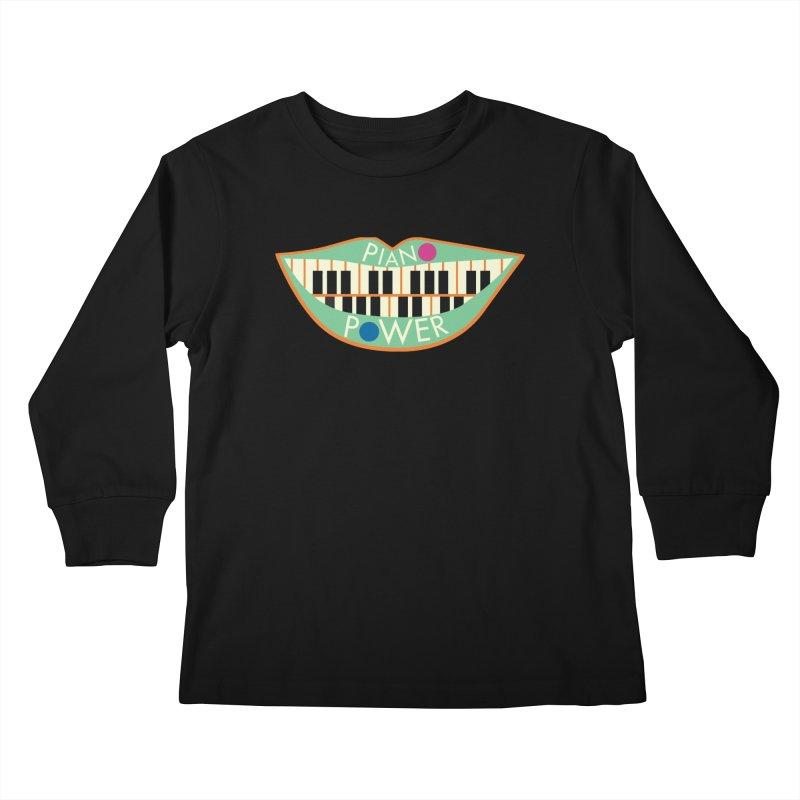 Piano Teeth Kids Longsleeve T-Shirt by Piano Power