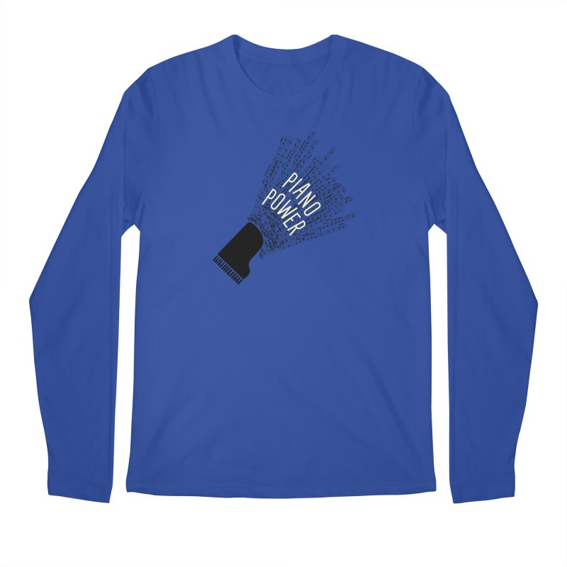 Piano Explosion Men's Longsleeve T-Shirt by Piano Power