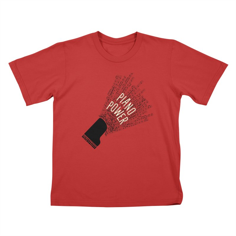 Piano Explosion Kids T-Shirt by Piano Power