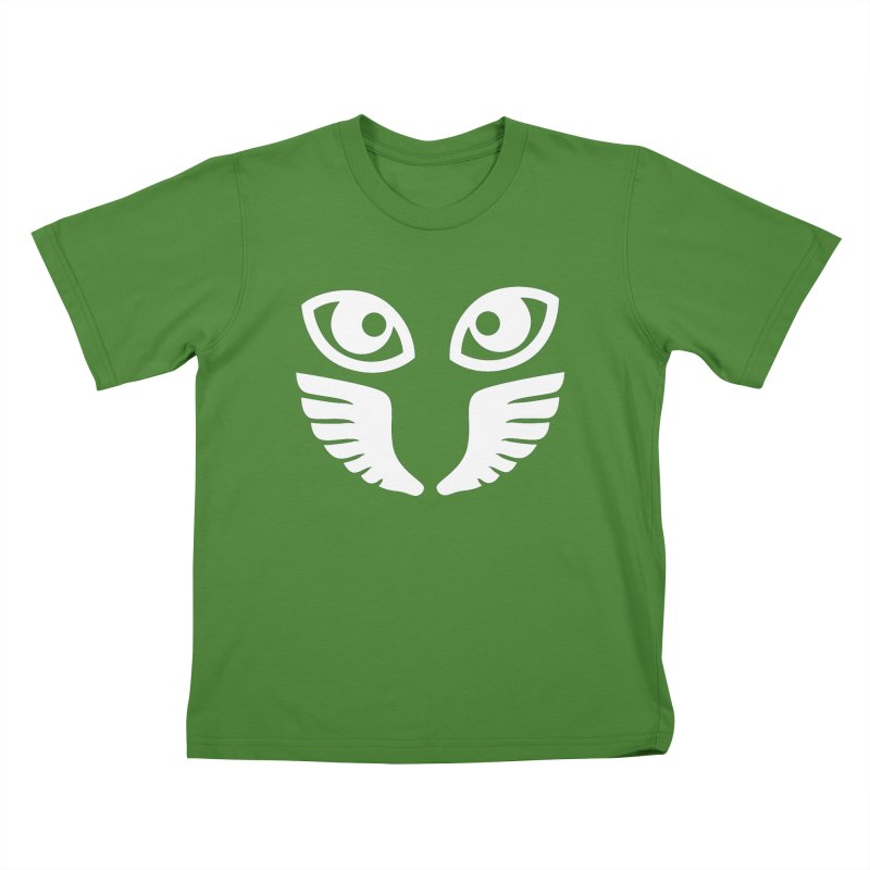 WHITE OCCHIALI - CLEAR OPTICS Kids T-shirt by Piccolo Cafe
