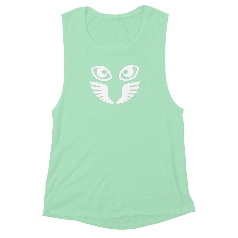 WHITE OCCHIALI - CLEAR OPTICS Women's Muscle Tank by Piccolo Cafe