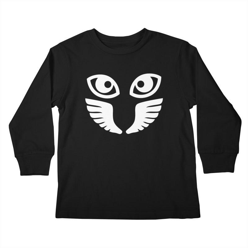WHITE OCCHIALI - CLEAR OPTICS Kids Longsleeve T-Shirt by Piccolo Cafe