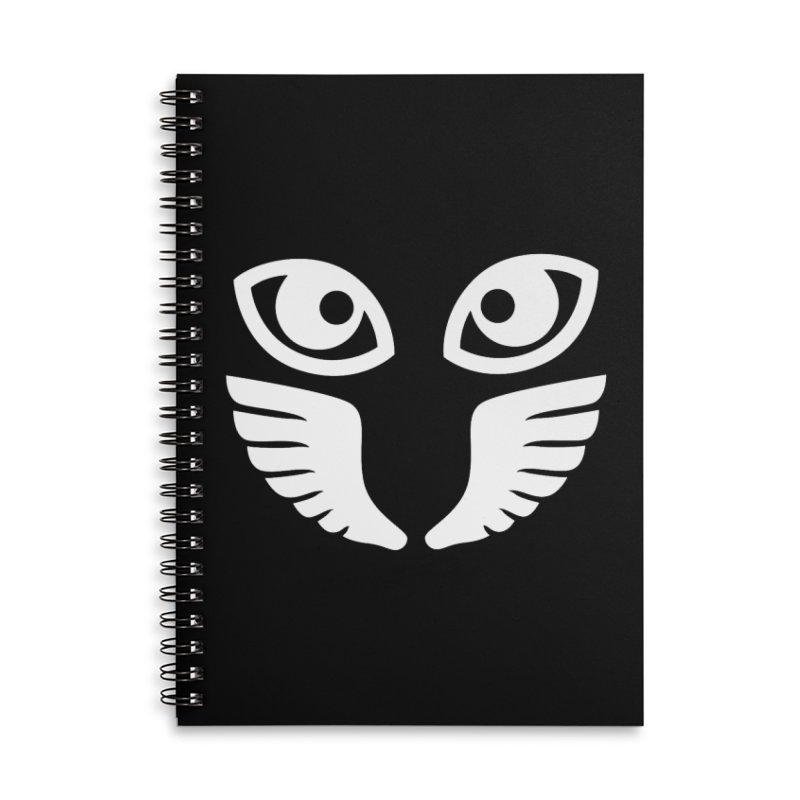 WHITE OCCHIALI - CLEAR OPTICS Accessories Lined Spiral Notebook by Piccolo Cafe