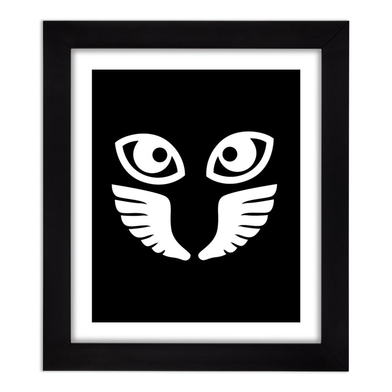 WHITE OCCHIALI - CLEAR OPTICS Home Framed Fine Art Print by Piccolo Cafe