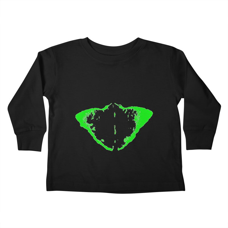 JEAN GREEN MANTHA  Kids Toddler Longsleeve T-Shirt by Piccolo Cafe