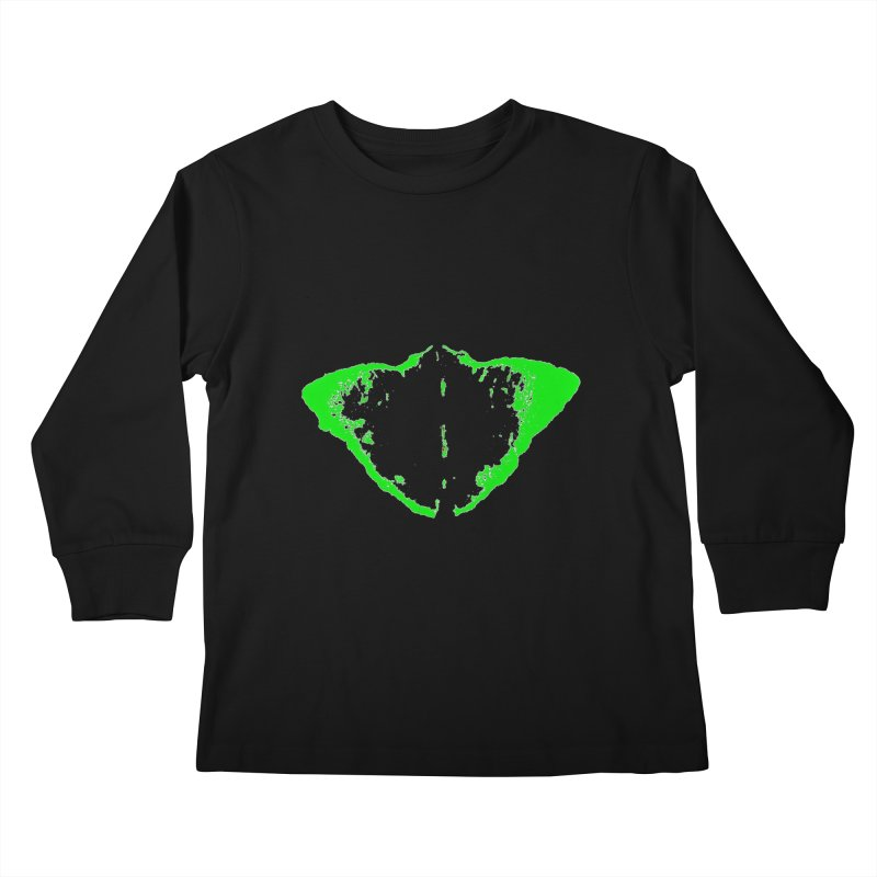 JEAN GREEN MANTHA  Kids Longsleeve T-Shirt by Piccolo Cafe